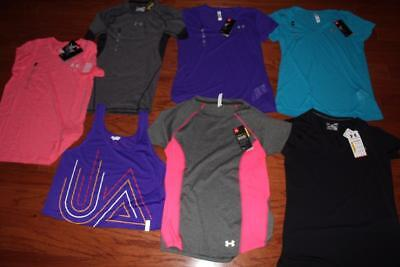 Lot 7 Under Armour Womens Shirts Tank Top Wounded Warrior Cool Switch Small Nwt
