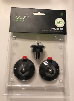 "New 360 FLY Adapter Mount Kit 1/4""-20 - 360 Action Camera Black Free Shipping"