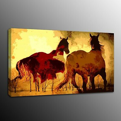 Animals Canvas Prints Painting Home Decor Wall Art running horses Photo Poster