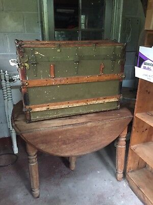 """Antique Steamer Trunk- With Original Inside Tray 34"""" x 21"""", 24"""" high"""