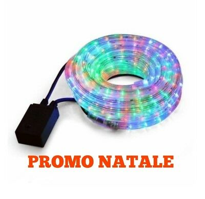 TUBO LUMINOSO 10 m 20 m LUCI LED NATALE BIANCO / MULTICOLORE SUPER OFFERTA