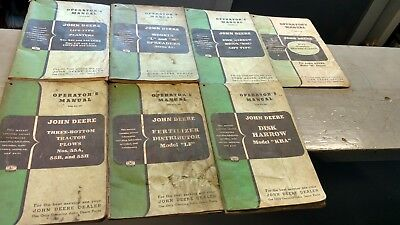 lot of old john deere implement operators manuals