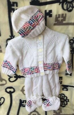 Brand New Hand Knitted Baby Set