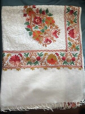 Cashmere, stole, Indian, Wrap, shawl, fashion, vintage , embroidered, kashmir