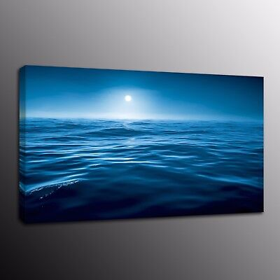 Blue Ocean Canvas Art Prints Painting Home Decor Wall Art for Living Room