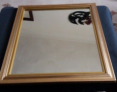 "A Small Sized Gilt Framed Mirror 13.75"" X 11.75"""