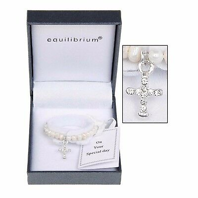 Equilibrium Jewellery Fresh Water Pearl Christening Bracelet Christmas Gifts