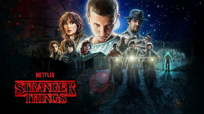 Poster Stranger Things su carta 120 gr. Ultra HD