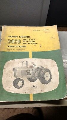 john deere OM-R39665 3020 operators manuals