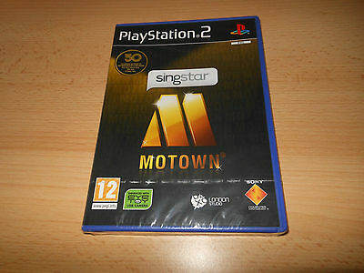 SingStar Motown Sony PlayStation ps2, NEW SEALED pal