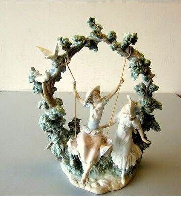 Lladro Figurine #1366 Girls In The Swing Retired Salvador Debn