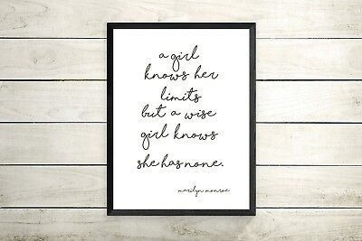 Marilyn Monroe. Inspirational quote. A4 print ONLY