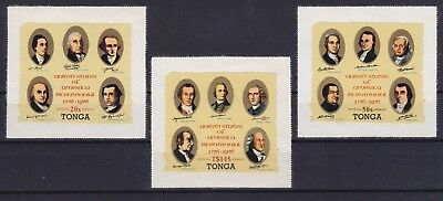 Tonga Dienst / Official Mi-Nr. 144 - 146  **, USA Independence (20 ME)