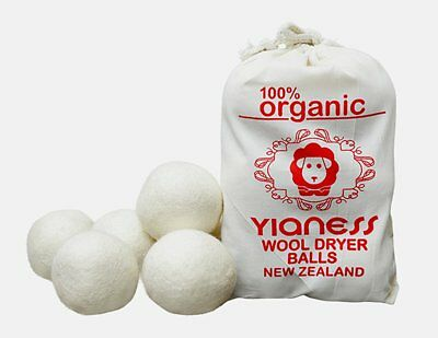 100% Wool Dryer Balls Pure Non Toxic New Zealand Wool – Hand Made Eco Friendly N