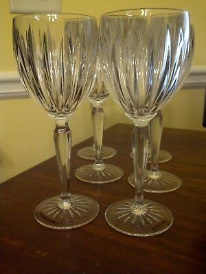 "Set of 6 Beautiful Cristal d'Arques (France) ""Classic"" Crystal Water Goblets"