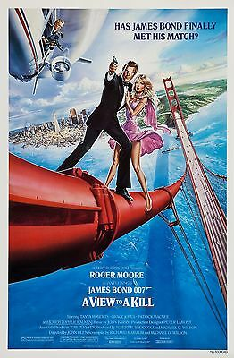 A View To A Kill (1985) Original Movie Poster  -  Rolled