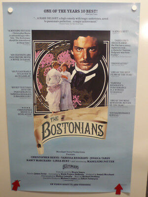 THE BOSTONIANS Christopher Reeve VANESSA REDGRAVE Home Video Poster 1984