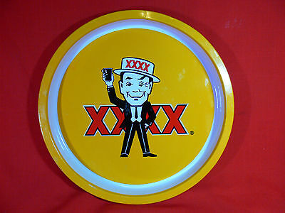 """VINTAGE Metal Beer Tray with Castlemaine XXXX Icon """"Mr Fourex"""" - BAR & MAN CAVE"""