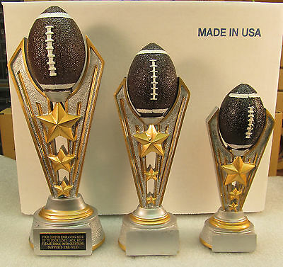 Fantasy Football Trophy Award 1st, 2nd, 3rd FREE Engraving FREE 2 Day Mail