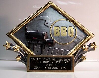 Bbq Trophy Award Free Custom Engraving Gift Box  Ships Two Day Priority Mail