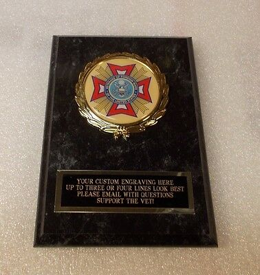 VFW Veterans of Foreign Wars Award Plaque FREE Engraving Ships 2 Day Priority