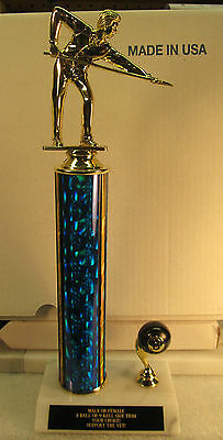 """Pool Billiards Trophy 8-Ball Tournament 13"""" FREE Engraving 2 Day Mail M or F"""