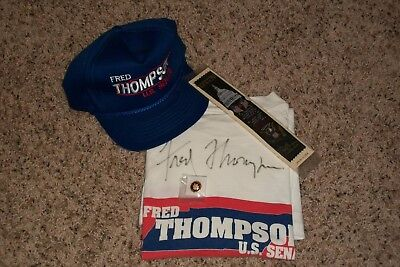 Fred Thompson Tennessee Senator, Law & Order Actor Signed Tee Shirt, Other Items