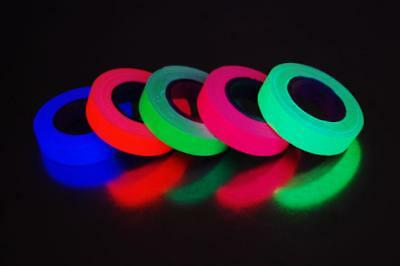 5 Pack Half Inch UV Blacklight Reactive Fluorescent Gaffer Tape 5 Rolls x 6 Yds