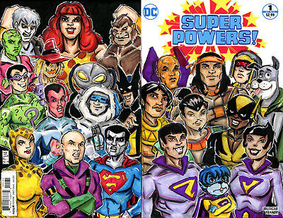 Super Powers #1 blank variant with original front & back cover illustrations