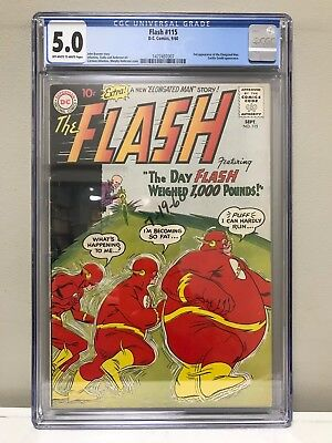 The Flash #115 Cgc 5.0 Vg/fn The Second Appearance Of The Elongated Man!