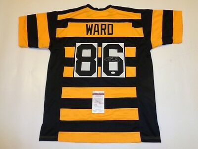 new style c592b 9be2f HINES WARD AUTOGRAPHED signed Steelers bumble bee jersey JSA Witness