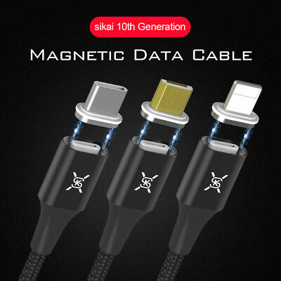 Magnetic Braided Micro USB Charger Charging Cable Line For Samsung Sony Android