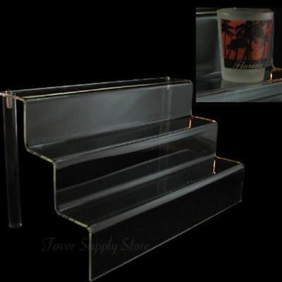 """Acrylic 2"""" Shelf 3 Stairway Appetizer or Dessert Display Stand 12"""" Wide"""