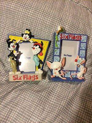 Vintage Animaniacs Pinky And The Brain Picture Frames From Six Flags