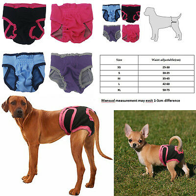 Cute Large Puppy Dog Cloth Diapers Male Washable Great Dane Doberman Black Red