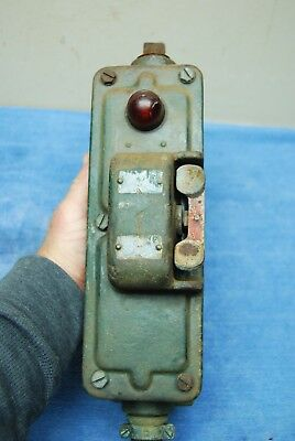 Antique Industrial Cast Iron Manufacturing Machine Emergency Kill Switch wall ut
