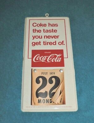 """Original 1970's Coca Cola Wall Calendar Sign Pad  """" Things Go Better With Coke """""""
