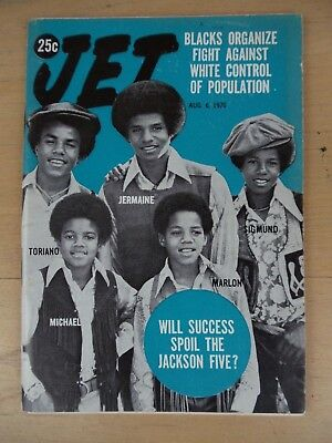 NOS Ebony Michael Jackson Jackson-5 Five August 6th 1970 Jet Magazine