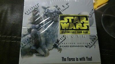 Star Wars Hoth Revised 9 Card Expansion Booster Pack New Unopened Box CCG