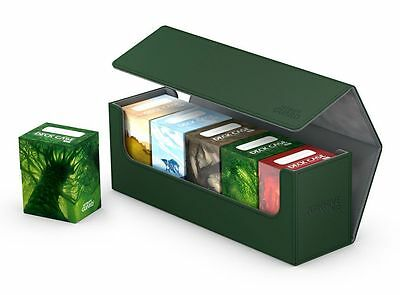 Ultimate Guard - Flip Case Archive 400+ XENOSKIN GREEN - Card Box Deck Boxing