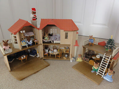 Sylvanian families Willow Hall bundle with characters, furniture and accessories