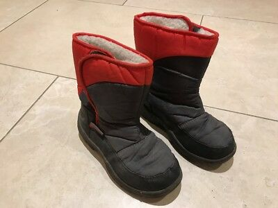 Mountain Warehouse Children's Snow boots Caribou Size 12 Fleece Lined Black/Red