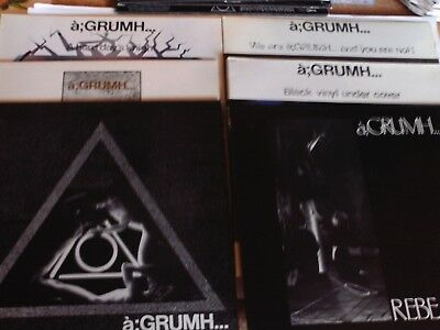 a;GRUMH...  WE ARE - NO WAY OUT - A HARD DAY´S KNIGHT - REBEARTH - BLACK - 6x LP