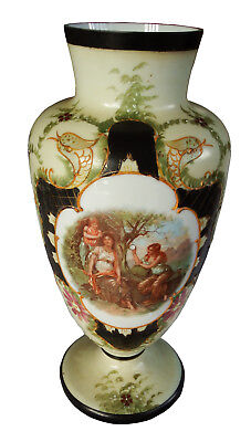 19th Century Signed French Opaline Vase W/ Gilded Decoration from Osbourne House