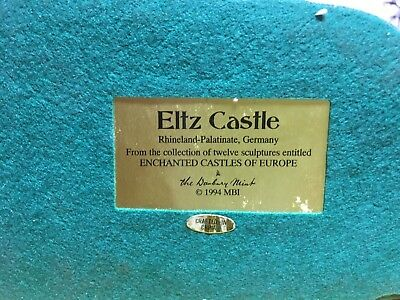 "Danbury Mint Enchanted Castles of Europe 1994 Collection "" Eltz Castle"""