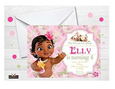Baby Moana Invitation 14