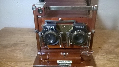 Antique Gundlach Korona Stereo Folding Camera Long Focus,1920's RARE