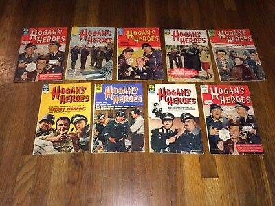 Hogan's Heroes #1 to #9.  Complete set!  A great gift!  Ship anywhere!