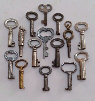Small Tiny Little Old Antique Vintage Keys Steampunk Key Necklaces Pendants