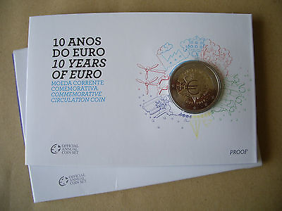 2 Euro Portugal 2012 Euro-Bargeld in Coin-Card PP
